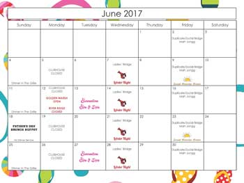2017 June Calendar Harbour Ridge style=