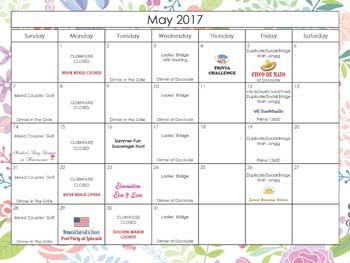 2017 May Calendar Harbour Ridge style=