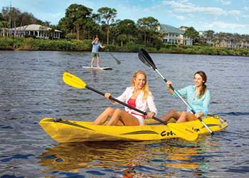 ON THE WATER: Kayak vs. SUP… Which Team Are You On? Harbour Ridge style=