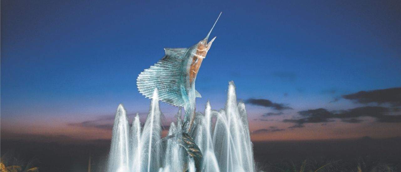 Downtown Stuart sailfish fountain