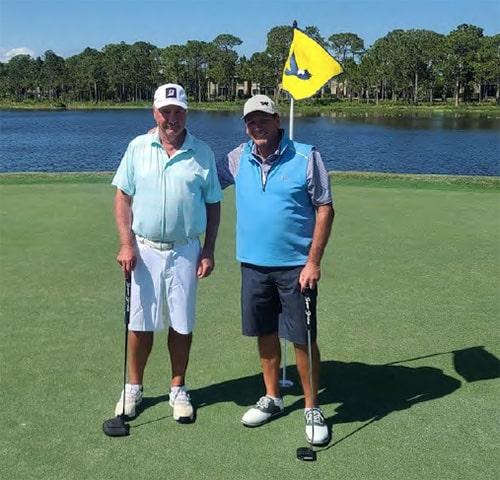 2 men standing on harbour ridge golf course